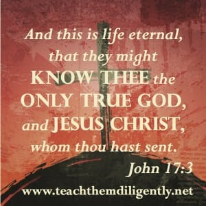 And this is life eternal that they might KNOW THEE...