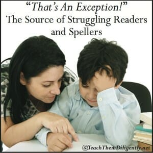 That's An Exception Homeschool Reading and Spelling