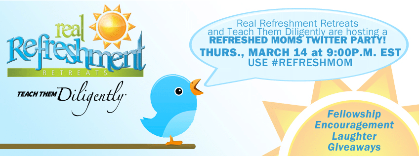 Teach Them Diligently and Real Refreshment Twitter Party
