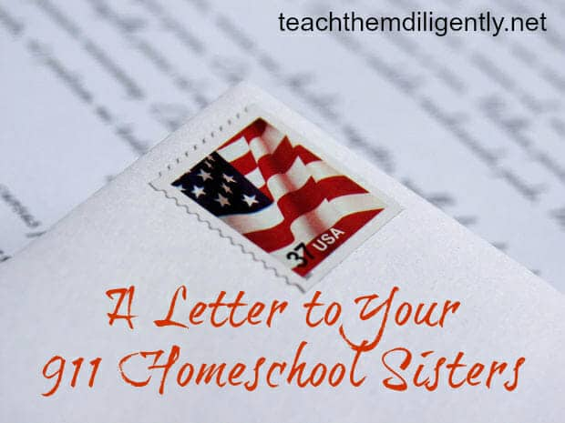 Letter to your Homeschool Sisters