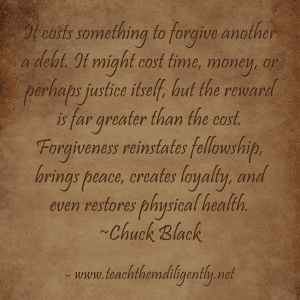 Forgiveness costs something